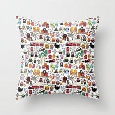 Kawaii Harry Potter Doodle Throw Pillow