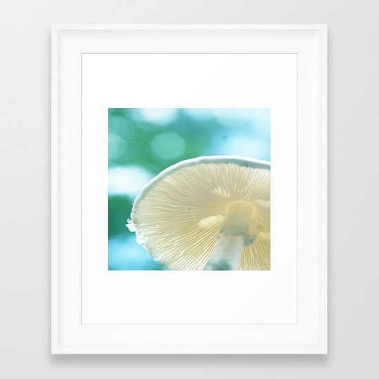 A Bug's Beach Umbrella Framed Art Print