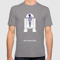 Star Wars Minimalism - R… Mens Fitted Tee Tri-Grey SMALL