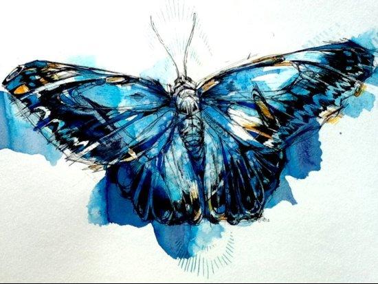 Mighty Morpho Butterfly Art Print
