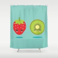 Strawberry Kiwi Shower Curtain