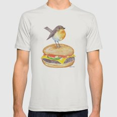 Chubadee on a Cheeseburger Mens Fitted Tee Silver SMALL