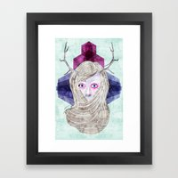 Hair Mask Framed Art Print