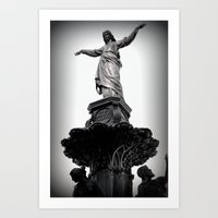 The Lady Of Fountain Squ… Art Print