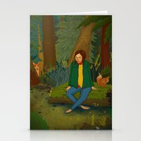 Chilling in the Woods Stationery Cards