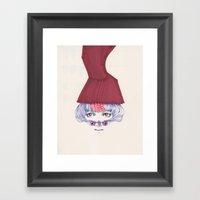 Owl Lady Wannabe Framed Art Print