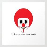 Clown #1 Art Print