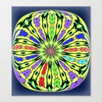 Clothes Peg Kaleidoscope  Canvas Print