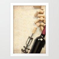 Bottle Of Wine Art Print