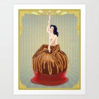 Candy Apple Girl Art Print