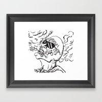 Our Hero, Former Smoker Framed Art Print
