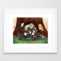 Bifrost Falls Framed Art Print