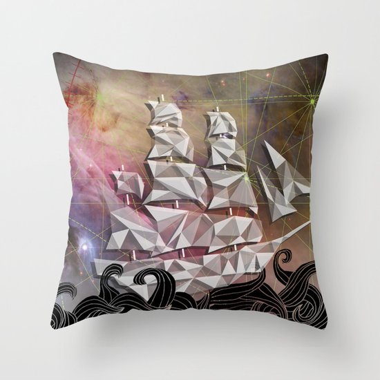 Celestial Ship Throw Pillow
