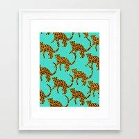 Jungle Cats Framed Art Print