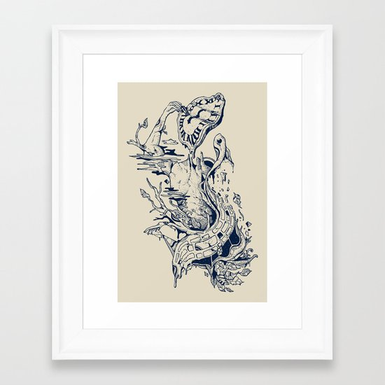 I Melt with You Framed Art Print