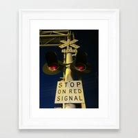 The Railroad Sentry Framed Art Print