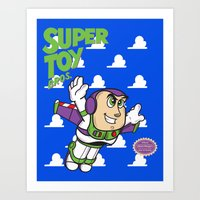 Super Toy Bros. Art Print