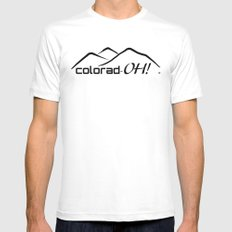 Colorad-OH! Creative Fun Wear White SMALL Mens Fitted Tee