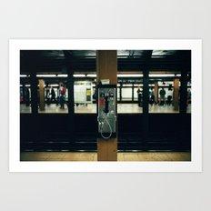 Metro Phone Call Art Print
