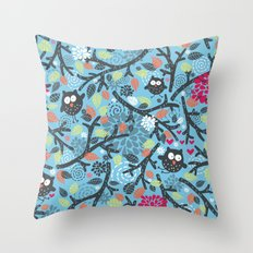 Owls. Throw Pillow