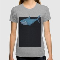 Toy Shark Womens Fitted Tee Athletic Grey SMALL