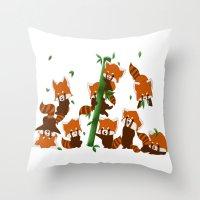 PandaMania Throw Pillow