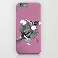 Three Pigeons Getting Fa… iPhone 6 Slim Case