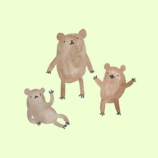 Three Bears Art Print