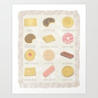 BISCUITS  Art Print