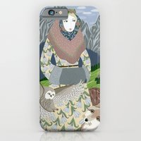 Lady With An Owl And A D… iPhone 6 Slim Case