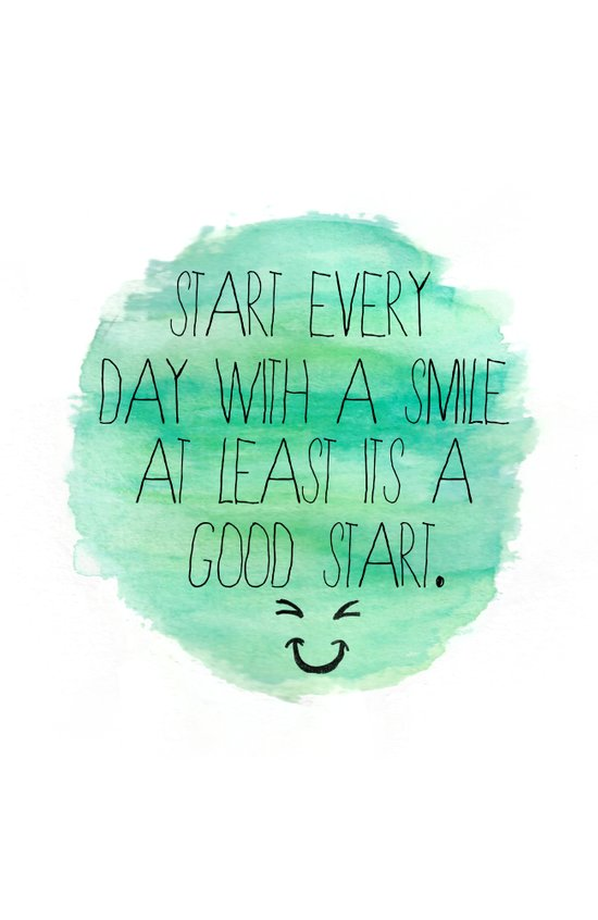 Start With a Smile Art Print