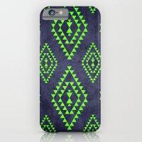 Navy & Lime Tribal Inspi… iPhone 6 Slim Case