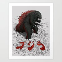 The Great Daikaiju Art Print