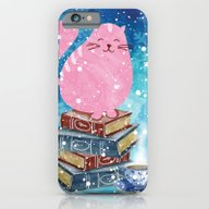 Bookish Cat In Winter iPhone 6 Slim Case