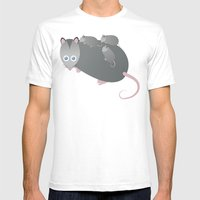 Adorable Mommy Possum Mens Fitted Tee White SMALL
