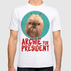 Archie for President Mens Fitted Tee Ash Grey SMALL