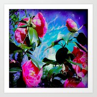 Winter Roses Art Print