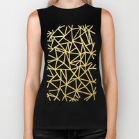 Abstract Outline Thick G… Biker Tank