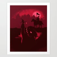 Farewell Brave Knight Art Print
