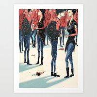 Hipster Party Art Print