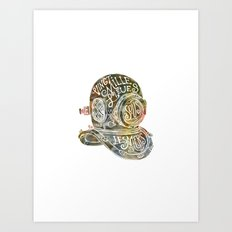 Vingt mille lieues Art Print