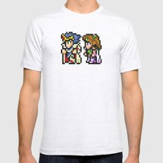 Final Fantasy II - Cecil and Rosa Mens Fitted Tee Ash Grey SMALL