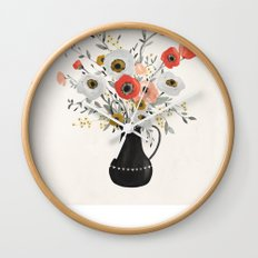 Poppies Wall Clock