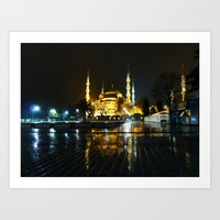 Istanbul night (Turkey 2013) Art Print