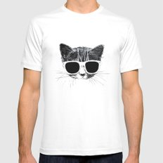 nightcat White SMALL Mens Fitted Tee