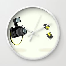 Camera & Film Wall Clock