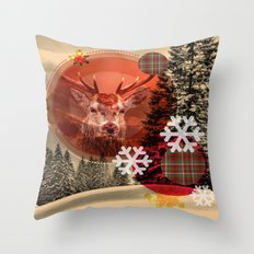Christmas scene. Throw Pillow