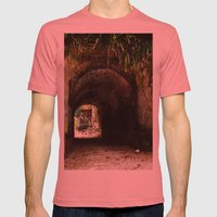 Old tunnel 2 Mens Fitted Tee Pomegranate SMALL