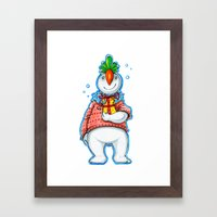 Your Neighbour Snowman Framed Art Print
