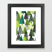 Pine Trees Framed Art Print
